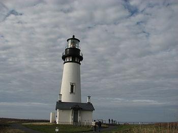Yaquina head light house located in Oregon coast